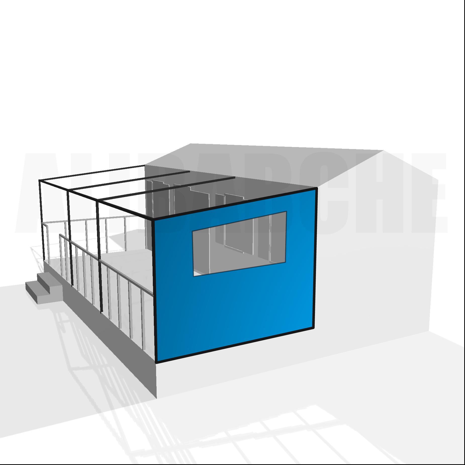 Bâche de côté droit pour terrasse de mobil-home sur mesure