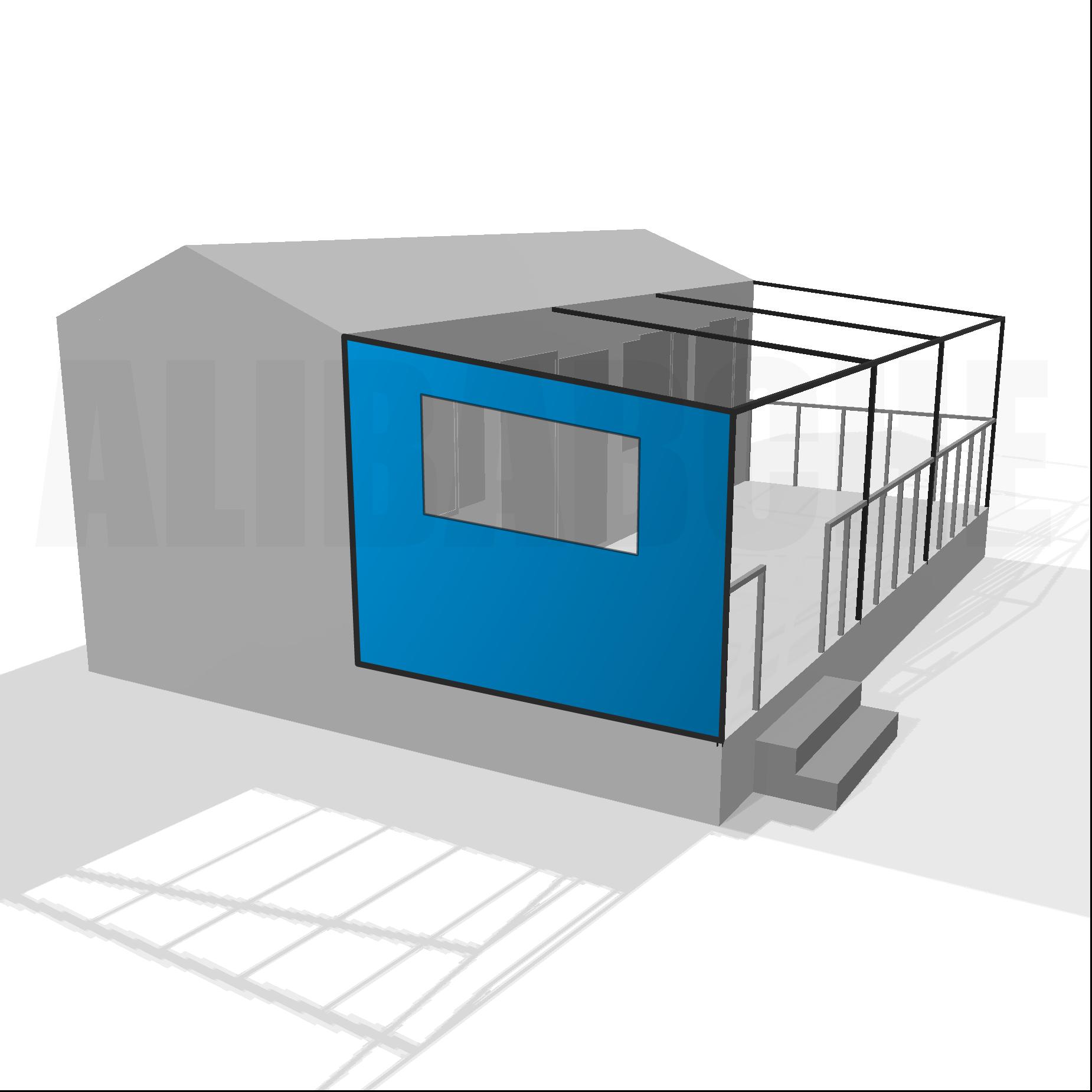 Bâche de côté gauche pour terrasse de mobil-home sur mesure
