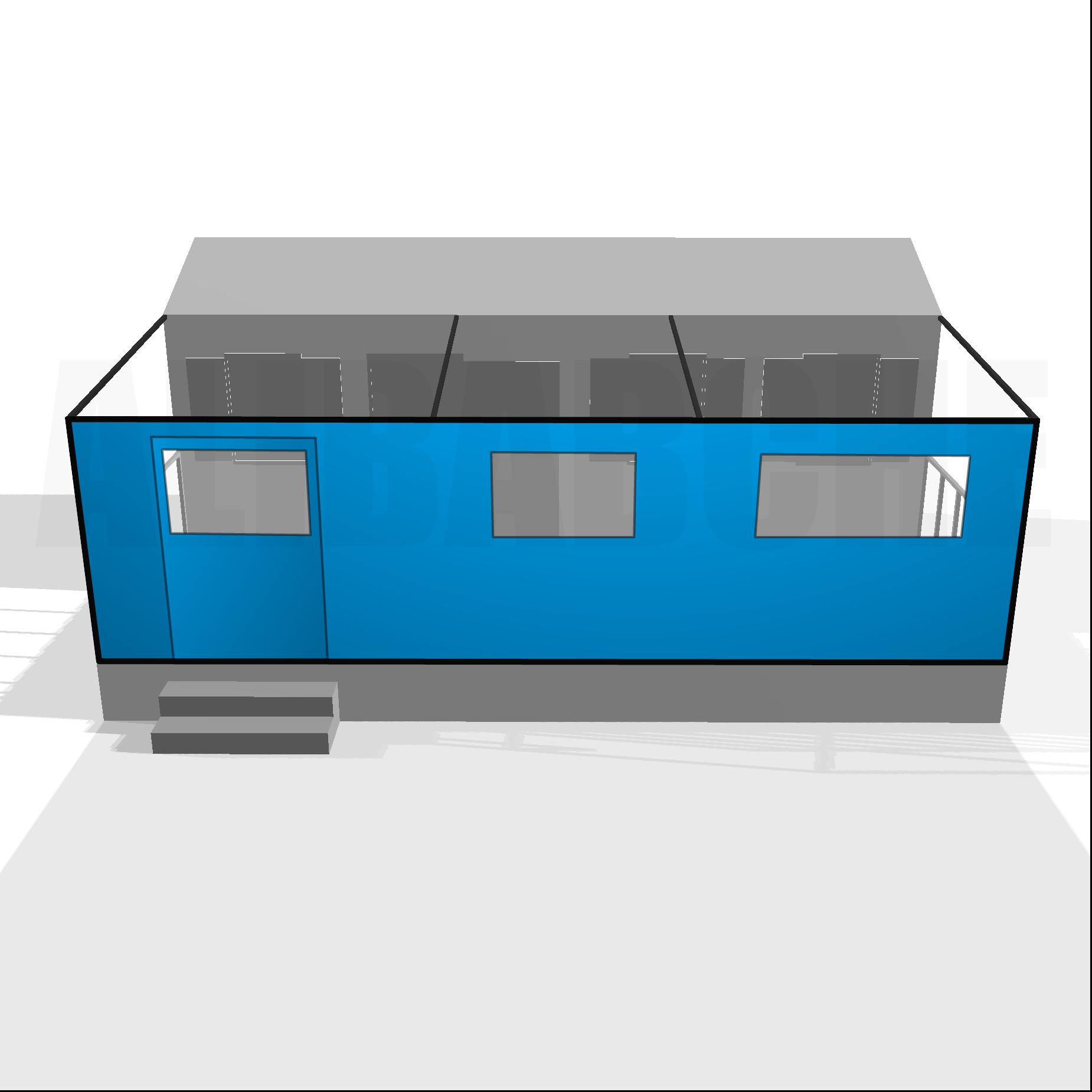 Bâche de façade pour terrasse de mobil-home sur mesure