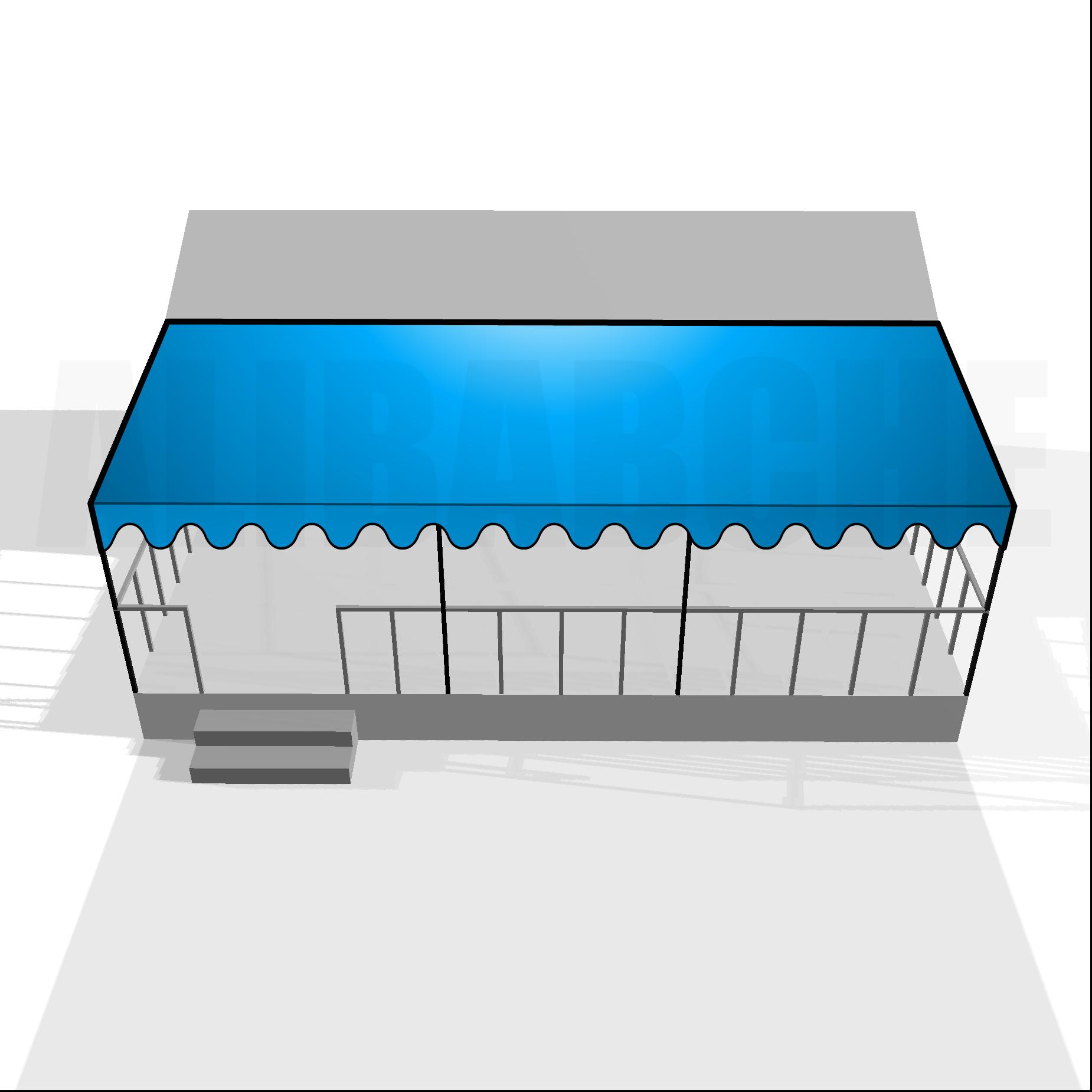Bâche de toit pour terrasse de mobil-home sur mesure